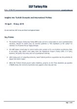 EGF Turkey File, Mid April — Mid May 2015
