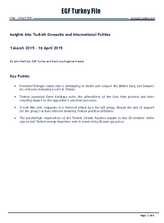 EGF Turkey File, March — Mid April 2015