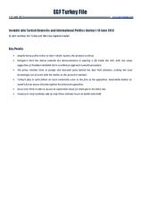 EGF Turkey File, 1 June — 15 June 2013