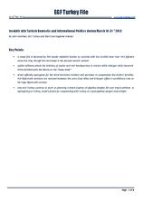 EGF Turkey File, 16 March — 31 March 2013