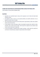 EGF Turkey File, 16 February — 28 February 2013