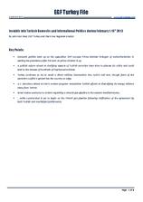 EGF Turkey File, 1 February — 15 February 2013