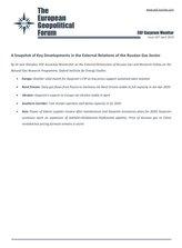 EGF Gazprom Monitor, Issue 107, April 2020