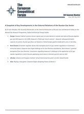 EGF Gazprom Monitor, Issue 108, May 2020