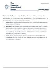 EGF Gazprom Monitor, Issue 122, July 2021